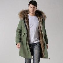 2017 Зимняя Повседневная Мужская s настоящий воротник верхняя одежда пальто военный человек куртка зимняя Длинная Куртка мужская парка пальто