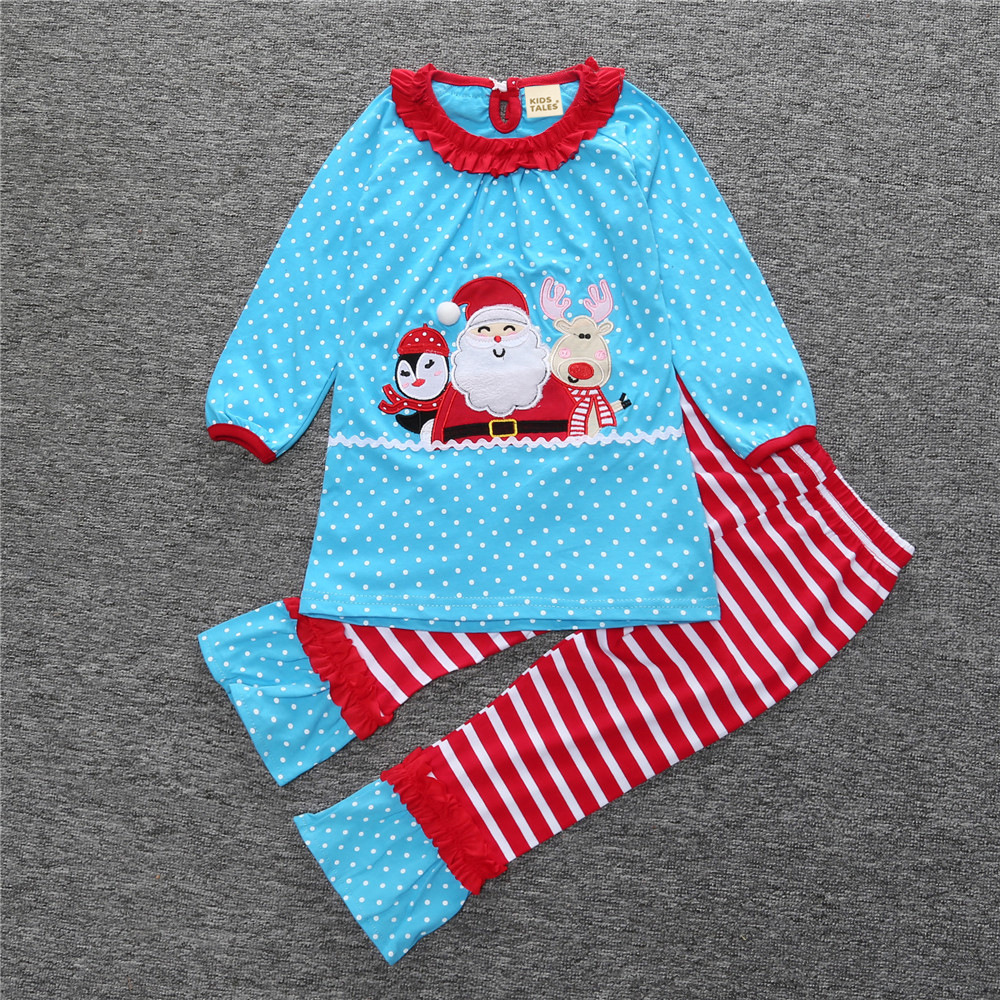 Boutique Giggle Moon Children Christmas Sets Santa Claus Top Stripes Cotton Pants Baby Girls Fall Winter Remake Clothing prabal barua ecology biodiversity and pollution of indian sundarbans
