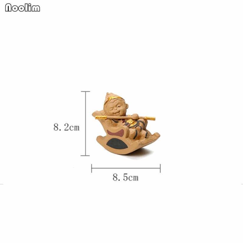 NOOLIM Monkey King Chá Ornamentos Pet Criativo Artesanato de Barro Roxo Kung Fu Jogo de Chá Jogo de Chá Chá Acessórios para Pu'er Oolong