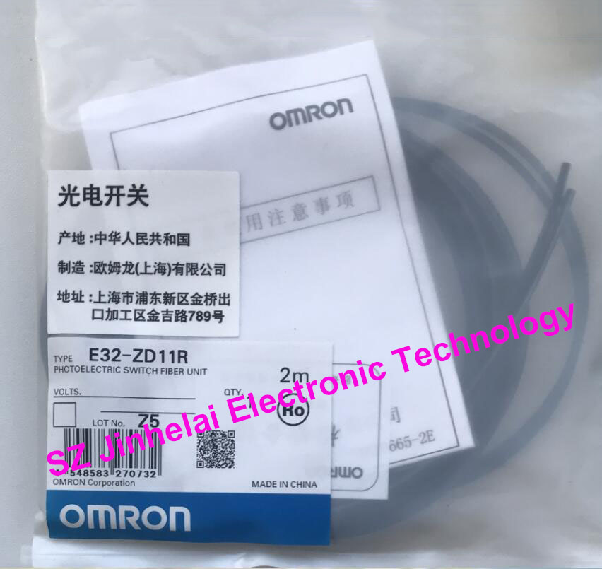 New and original OMRON PHOTO ELECTRIC SWITCH FIBER UNIT E32-ZD11R 2M [zob] new original omron omron beam photoelectric switch e3jk tr12 c 2m 2pcs lot