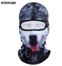 ICESNAKE 3D Cap Dog Animal Outdoor Sports Bicycle Cycling Motorcycle Masks Ski Hood Hat Veil Balaclava Full Face Mask