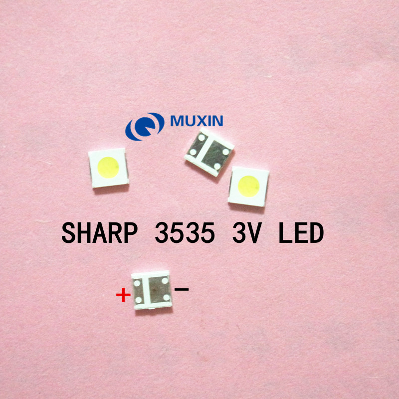 100pcs For Sharp Led Tv Application Lcd Backlight For Tv Led Backlight 1w 3v 3535 3537 Cool White Gm5f22zh10a Active Components Diodes