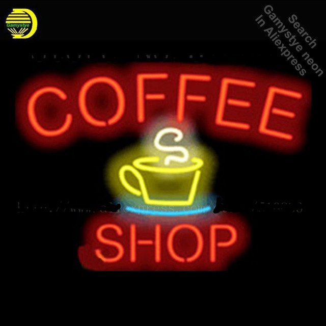 Coffee Shop Neon Sign Real Glass Tube Display Light Lamp Decorative Bar Beer BULBS Shop Decor Neon Signs 19