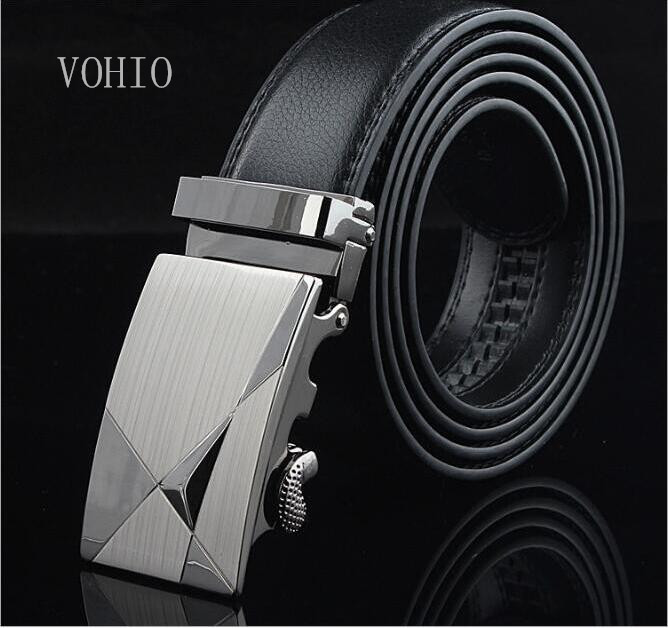 VOHIO Безкоштовна доставка чоловічих поясів повноцінних автоматичних ременів на пряжках для дозвілля діловий шкіряний ремінь виробник забезпечує прямо