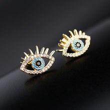 Sipengjel minúsculos na moda zircônia cúbica ouro cor olho brincos do parafuso prisioneiro estilo coreano bonito brincos para as mulheres moda jóias