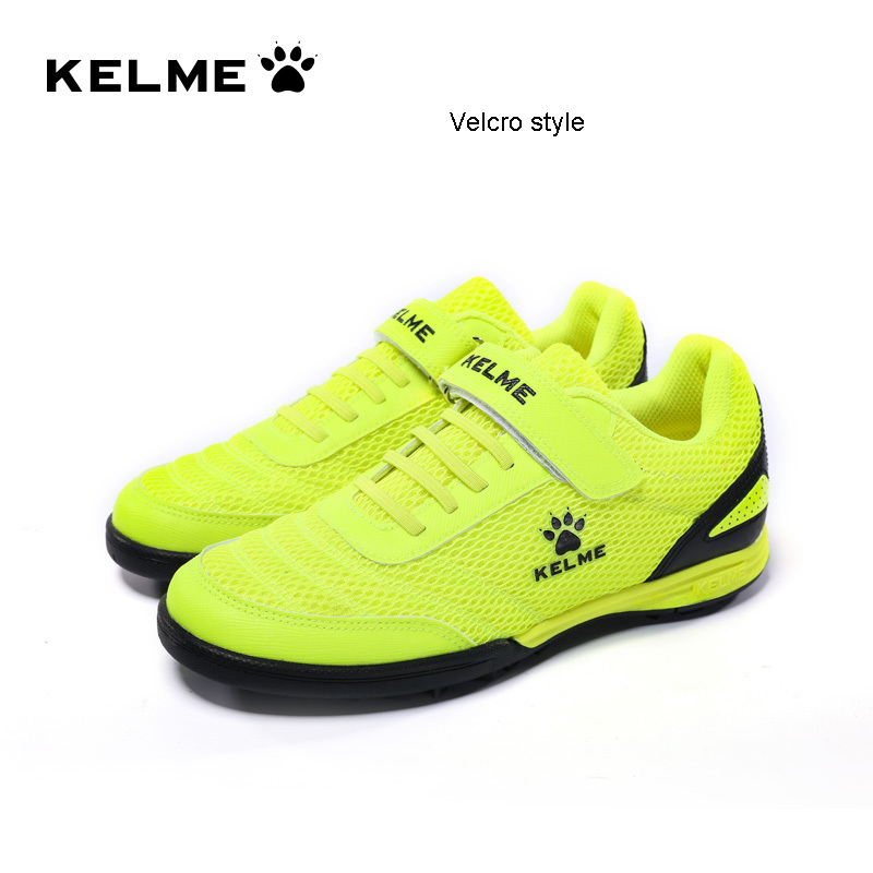 4876a92ec KELME kids children s futzalki football shoes sneakers indoor turf superfly  futsal Hook   Loop soccer shoes