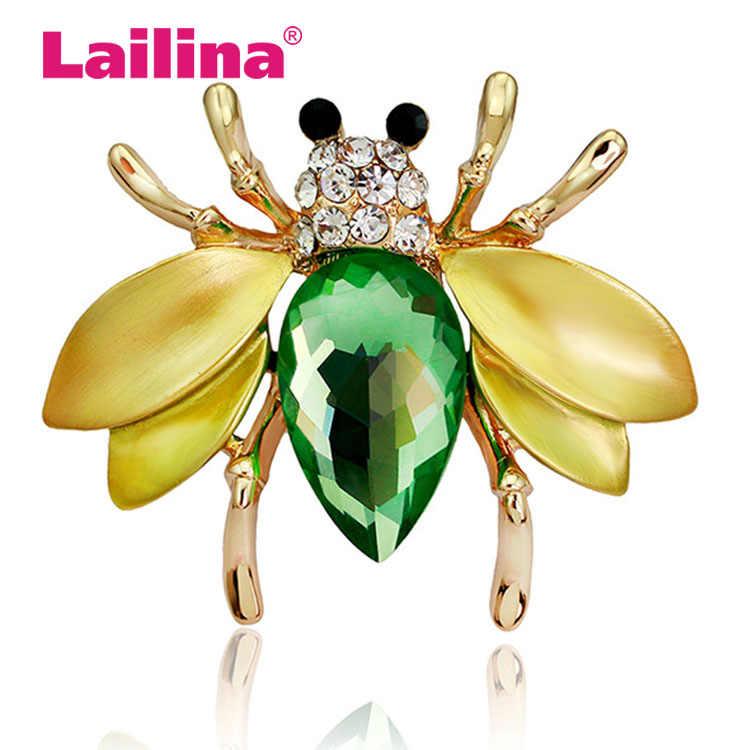 Модные украшения эмалированная желтая пчела брошь с золотой Заколкой и серебряными цветами брошь с животными женские ювелирные броши