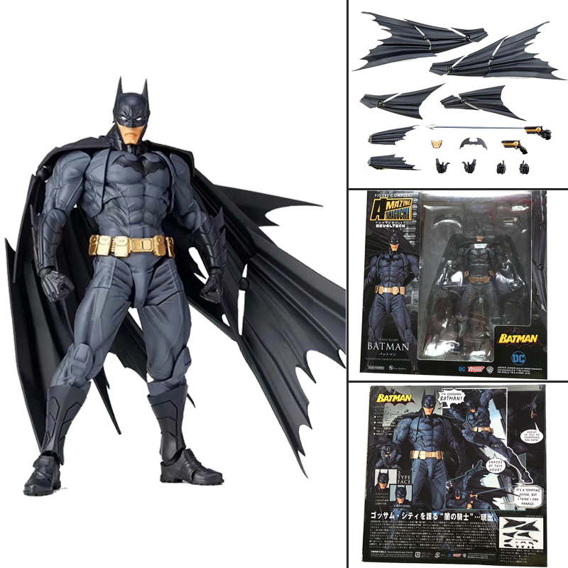 DC Amazing Batman Dark Knight Yamaguchi Revoltech NO.009 Batman Action Figure Collection Toy Gift