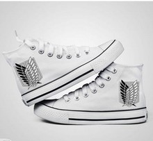 Attack On Titan Luminous High Platform Canvas Shoes
