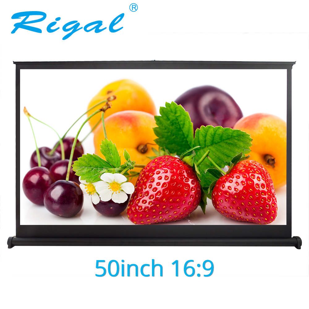 Rigal Projector Screen 50 inch 16 9 Portable Matte White Projection Table Screen For Office Business