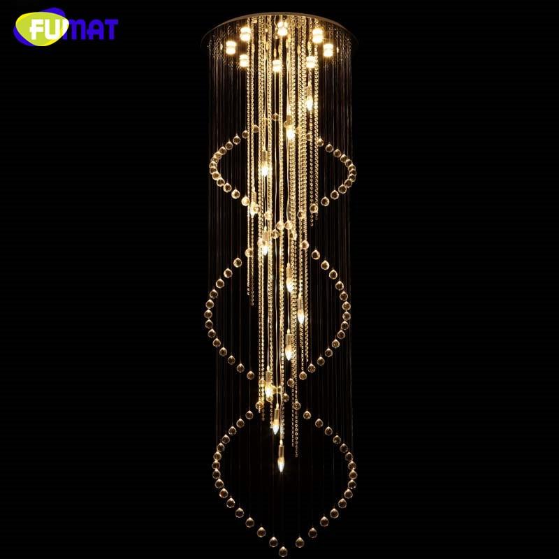 FUMAT LED lustr Brief Creative K9 Crystal Schody Závěsné světlo - Vnitřní osvětlení