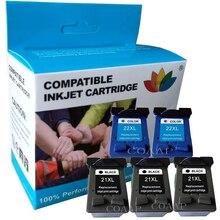 21XL 22XL сменный чернильный картридж для hp Deskjet F4180 D1311 D1360 F2180 F2280 F2290 F370 F375 F380 бумага для принтера hp 21 22
