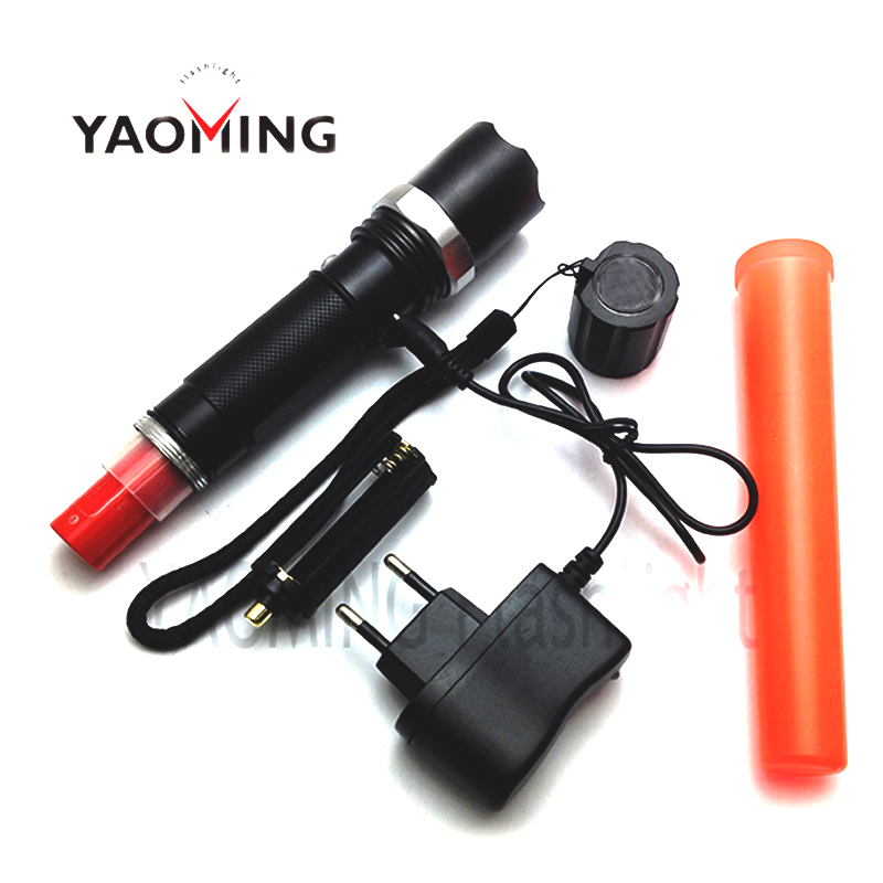 Traffic Baton Police Flashlights Linterna Cree Q5 3 Modes 5w Waterproof Rechargeable Camping Hiking 18650 or 3*AAA Torch Lamps