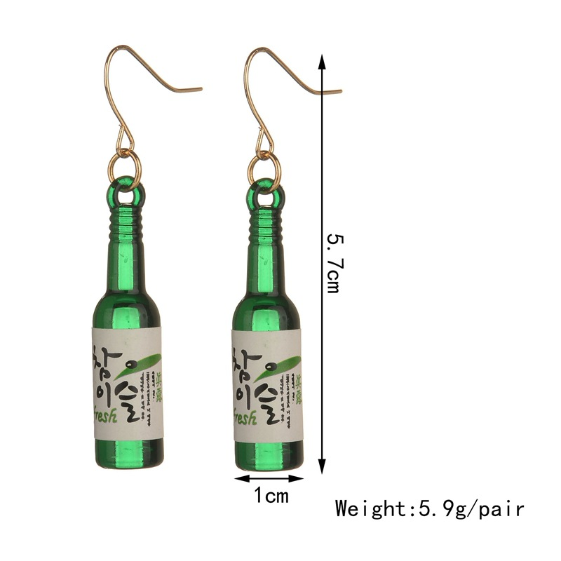Fashion Cute Fun Resin Fake Glass Beer Earrings Cute Handmade Earrings Womens Jewelry 2