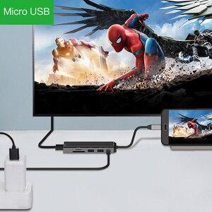 Image 5 - AIXXCO USB HUB USB C để HDMI SD/TF đối với MacBook Samsung Galaxy S10 Huawei Mate 20 P20 Pro loại C USB 3.0 HUB