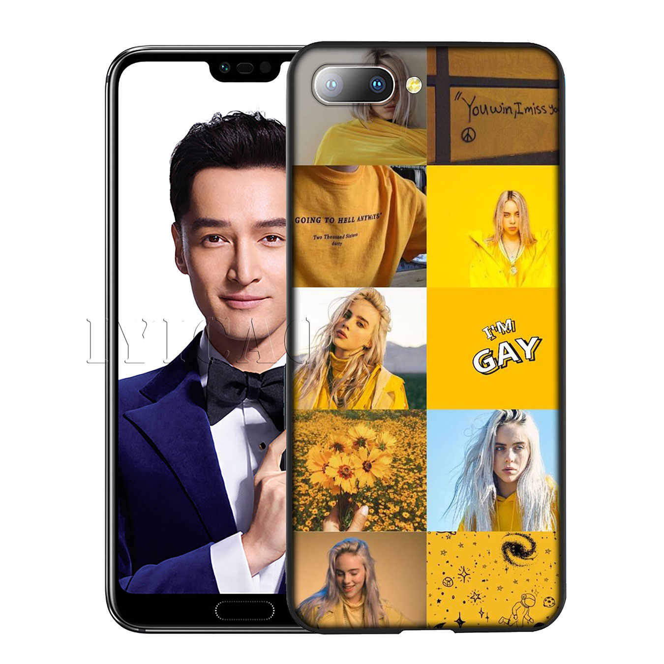 IYICAO Billie Eilish Khalid Lovely Silicone Soft Case for Huawei Y7 Y6 Prime Y9 2018 Honor 8C 8X 8 9 10 Lite 6A 7C 7X 7A Pro