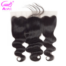 "Ariel Hair Lace Frontal Closure Brazilian Hair Body Wave 13x4 Free Part Human Hair Closure With Baby Hair Natural Color 8""-20""(China)"