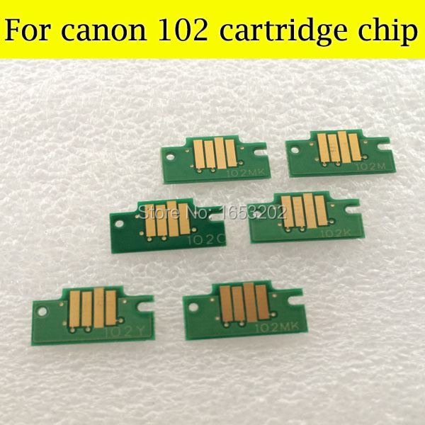 Best Cartridge Chip For Canon PFi-102 Use For Canon iPF605 iPF700 iPF610 iPF710 PFi 102 Ink Cartridge pfi 102 130ml 5 pack compatible ink cartridge for imageprograf ipf605 ipf610 ipf700 ipf710 ipf720 printers