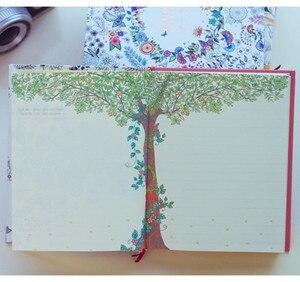 Image 5 - 2019 Kawaii Leuke Koreaanse Bloemen Printing Boek Kleurrijke Bloem Lijn Notebook Hardcover Persoonlijke Journal Zuivel Sketchbook Voor Meisjes