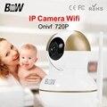 Hot Segurança Vigilância IP 720 P HD Camera Wifi Controle Remoto 2 Vias Monitoração De Áudio CCTV Sistema de Alarme BWIPC002D