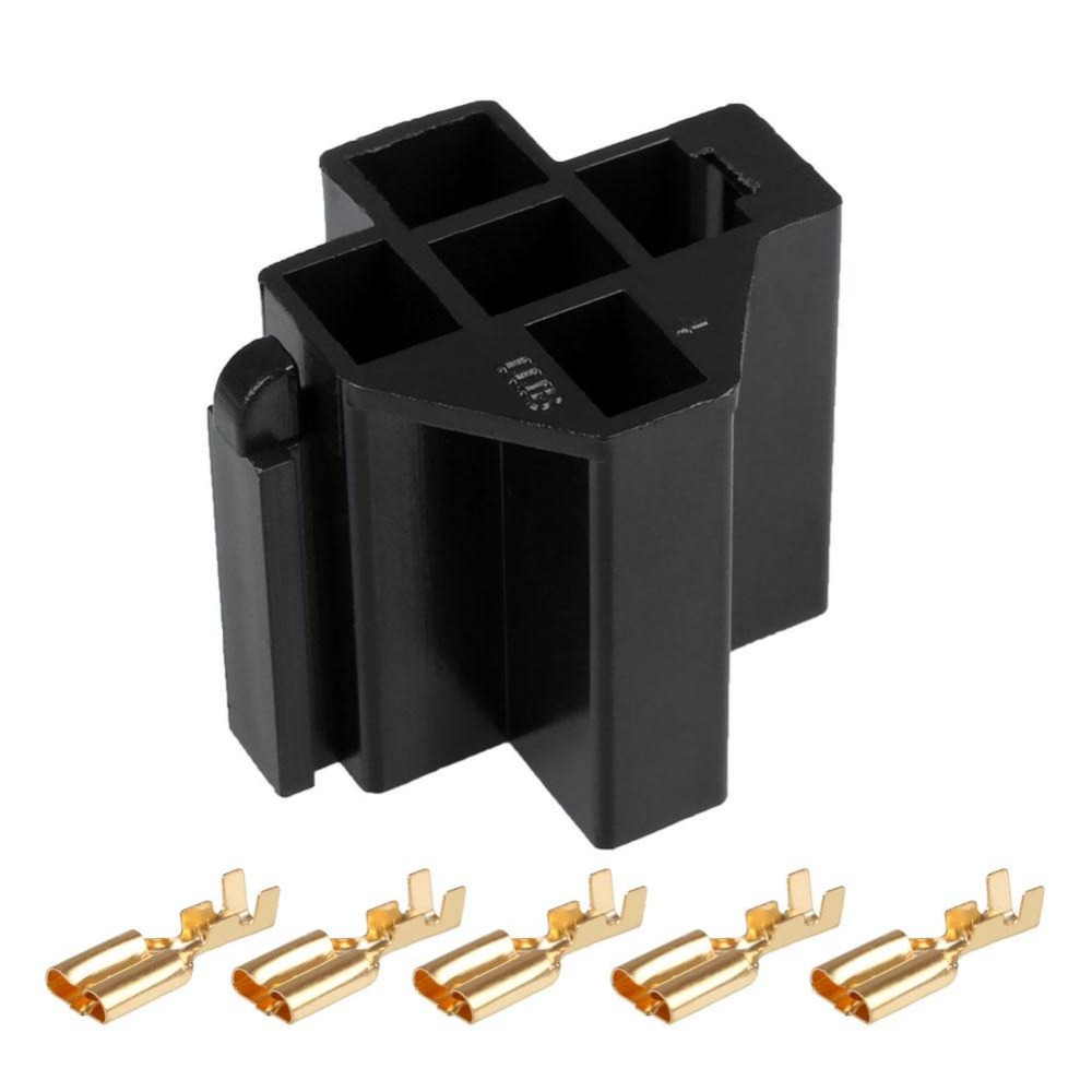 1Set Car Auto Vehicle 5 Pin Relay Socket Holder with 5Pcs 63mm