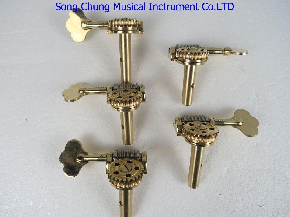 Germany style Double bass 4 strings/5 strings machine head pegs 4/4&3/4 - Цвет: 5 strings