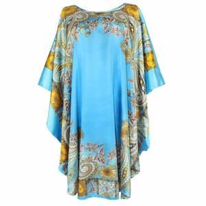 Blue Women Casual Robe Dress Gown Chinese Lady Rayon Nightdress Sleepwear  Novelty Print Yukata Nightgown Negligee One Size 0226a031d