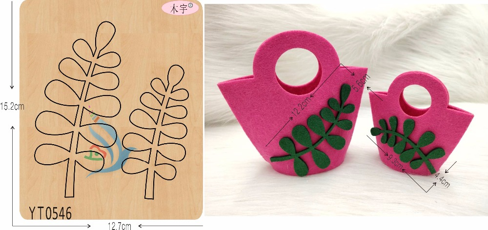 Plant leaves DIY new wooden mould cutting dies for scrapbooking Thickness 15 8mm YT0546