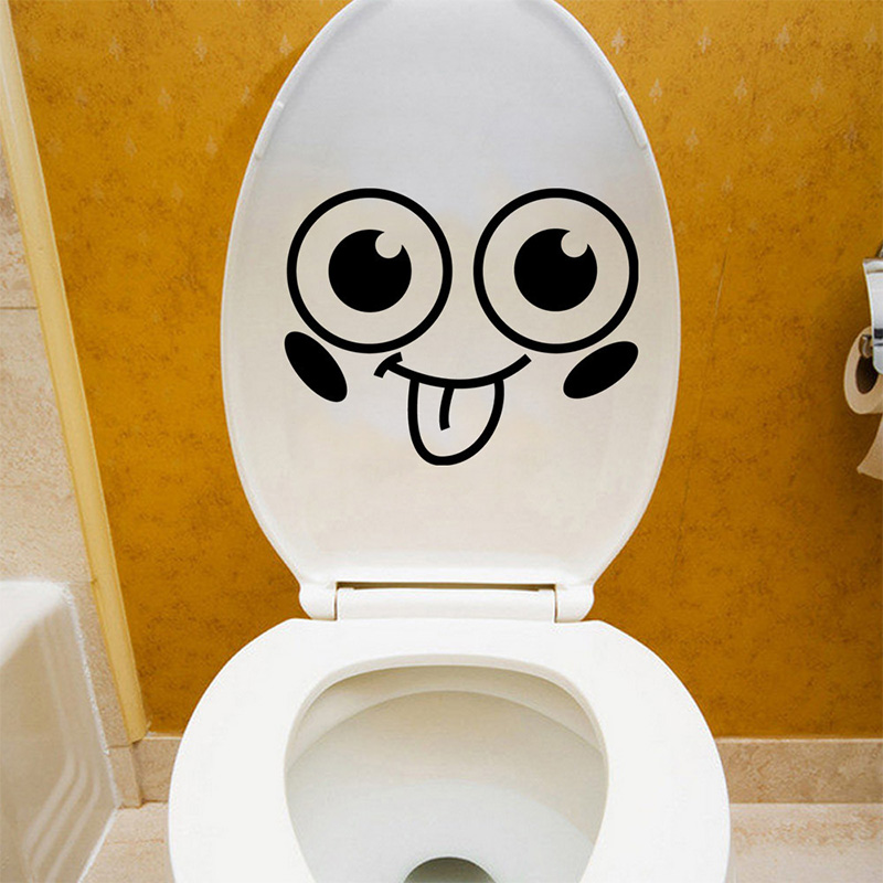 DIY Smiley toilet stickers on the toilet seat home decor PVC wall stickers kitchen bathroom refrigerator door decals Art Mural