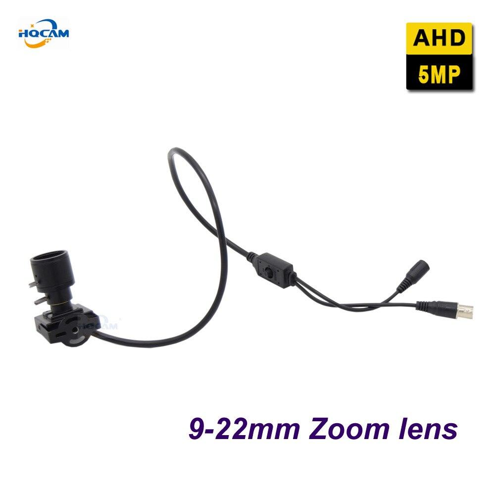 HQCAM AHD 5MP Mini AHD Camera OSD menu 1/2.9 CMOS FH8538M +IMX326 Mini AHD Camera Surveillance Indoor 2560x2048, 9-22mm lens
