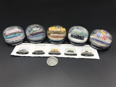 glass boll railway museum ornament toy model 5pcs/set