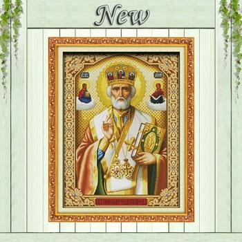 Papież chrystusa, policzone drukowane na tkaninie DMC 14CT 11CT zestaw do haftu, wszystko dla haft robótki zestawy, jezus wystrój domu