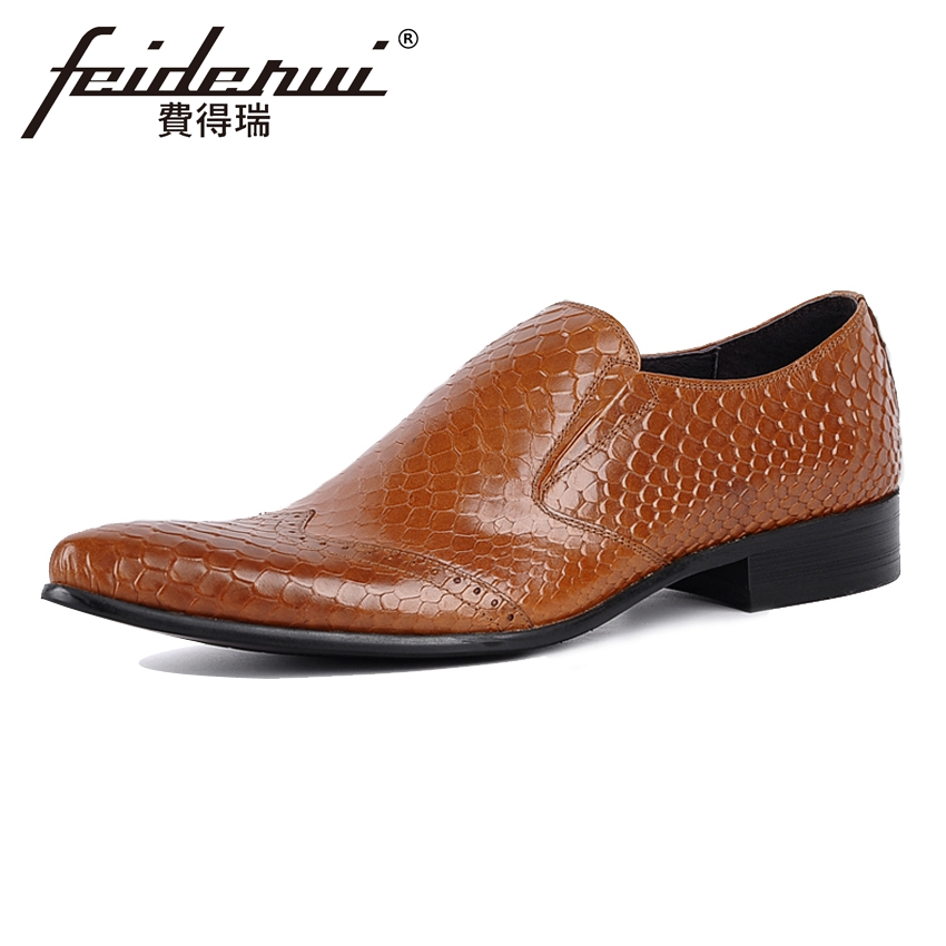Vintage Genuine Leather Alligator Men