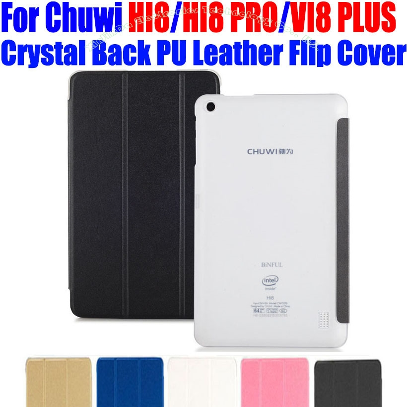 цена на Tablet pc Case For Chuwi HI8 PRO VI8 PLUS 8 INCH Luxury Crystal Back PU Leather Case Flip Cover For vi8 plus hi8 pro CW01