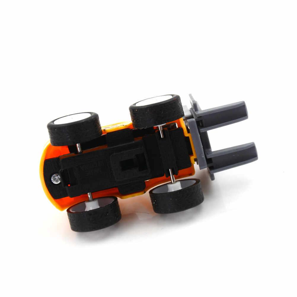 Mini eğitici oyuncaklar çocuklar için 1 adet mühendislik oyuncak arabalar çocuklar Forklift araç setleri araç modeli oyuncak arabalar