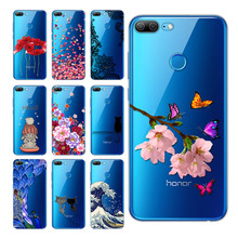 5,65 inch Huawei Honor 9 Lite Case Cover, Printed Soft Silicon TPU Back Cover honor 10 lite Phone Cases
