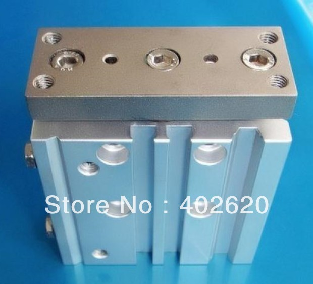 2pcs/lot, SMC style, 32mm bore, 125mm stroke  MPGM32-125,three shaft pneumatic cylinder  free shipping 5pcs lot smc three shaft style 40mm bore 20mm stroke mpgm40 20 pneumatic cylinder free shipping