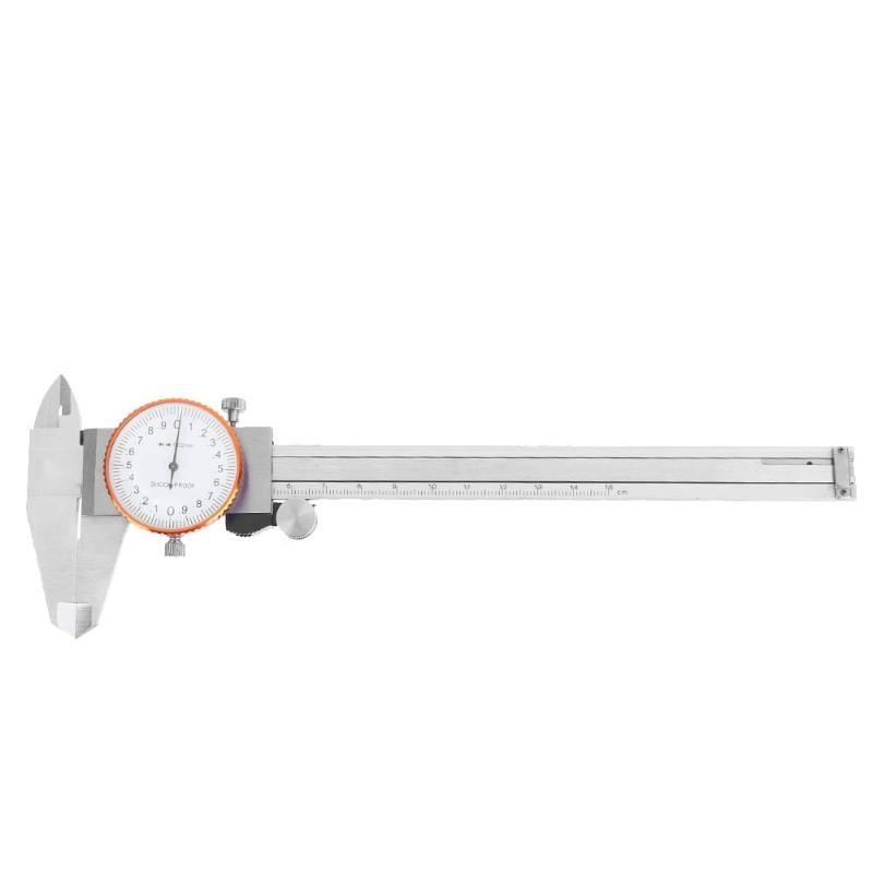 цена на Dial Caliper Micrometer 0-150mm/0.01mm Metric Gauge Measuring Tool Shock-proof Stainless Steel Precision Vernier Caliper