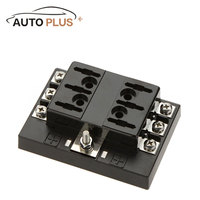 Hot Sale 6 Way Circuit Car Fuse Box Holder 32V DC Waterproof Blade Fuse holder Block for Auto Car Boat Car Light Source