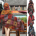 2016 Hot Top New Women Cape Poncho Shawl Scarf Tribal Fringe Hooded Bohemian Coat Jacket