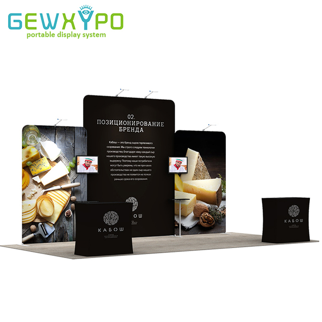 Exhibition Stand Accessories : Ft ft exhibition booth size easy fabric banner aluminum tube