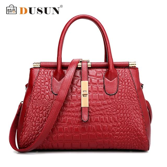 2017 Women Crocodile Leather Bag Real Genuine Handbags Woman Vintage Hand Brands Las Black