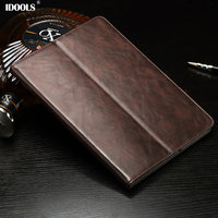 *Luxury Genuine Leather cases For funda ipad air 2 case With Stand and Card Slot Protective Skin laptop bag For iPad Air 2 Cover