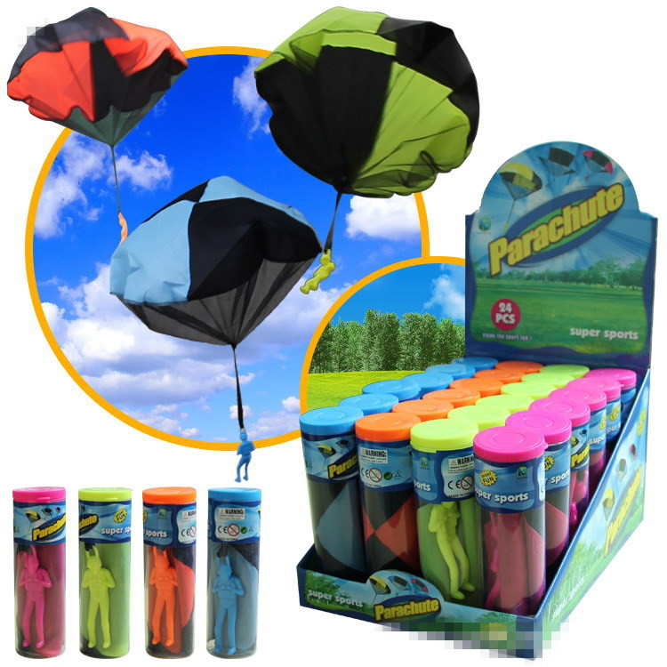 Hand Throwing Parachute Toy Play Game For Children's Educational Parachute With Figure Soldier Child Outdoor Fun Random Color