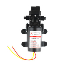 DC 12V 60W Motorcycle High Pressure Diaphragm Water Self Priming Pump 4.0L/Min Waterproof Automatic Pump Black Drop Shipping
