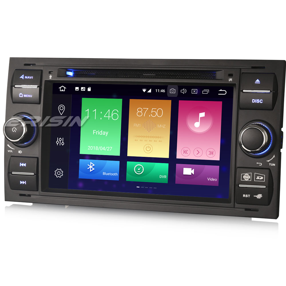 Erisin ES7431FB 7 Android 8.0 4G RAM Car DVD GPS Radio DVR DAB+ DVD OBD for Frod Transit Focus Fiesta Kuga