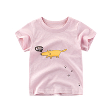 100% Cotton Cartoon Print Baby Boys Animal T Shirt For Summer Multi Color Kids Boys Girls T-Shirts Clothes Cotton Letter Tops недорого