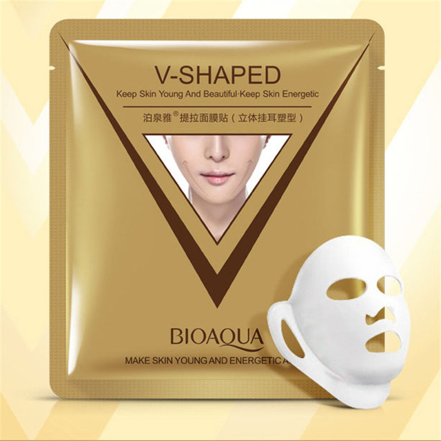 BIOAQUA mask for face Firming 3D Facial Mask V Line Slimming Lifting Shaping Whitening Moisturizing Brighten Mask Skin Care 2