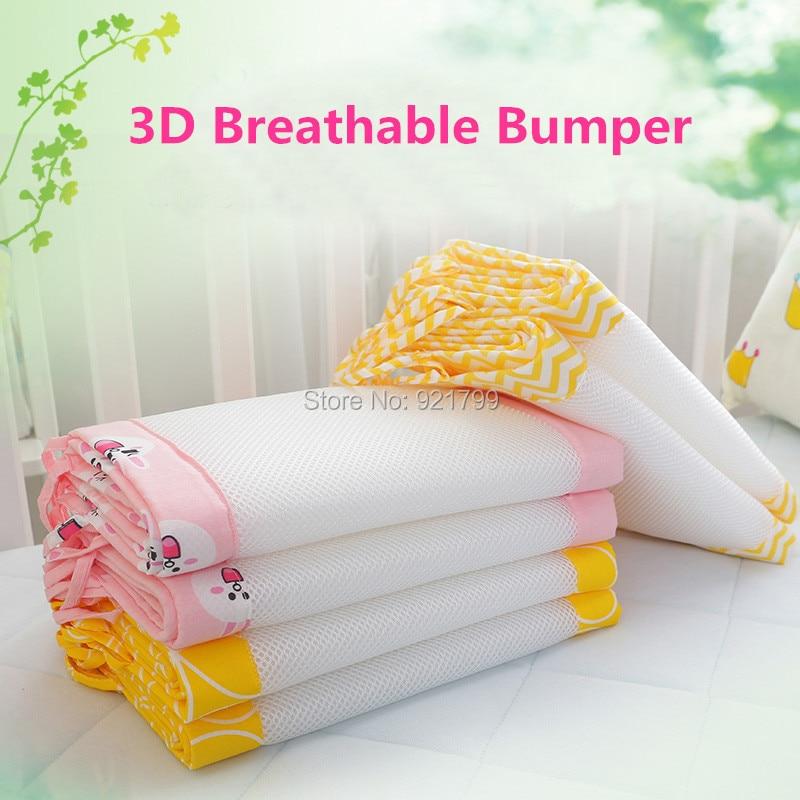 1 ST Lange Katoen / Polyester Zomer Pasgeboren Wieg Bumper Veiligheid - Beddegoed - Foto 3