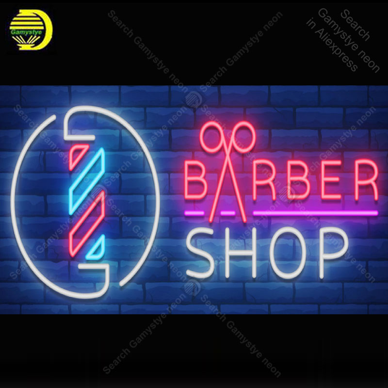 Neon light sign Barber Shop Restaurant Beer Advertise Neon Lamp sign store display neon Letrero lights enseigne Handcraf|Neon Bulbs & Tubes|Lights & Lighting - title=